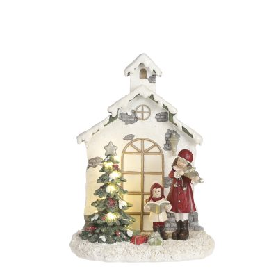 X-mas scene red led battery operated
