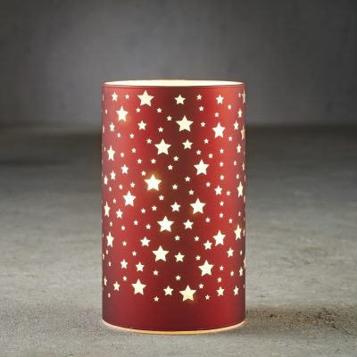 Hurricane light red 15 led battery operated