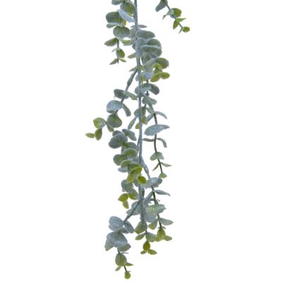 Garland eucalypthus plastic with ice finish