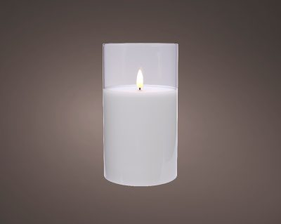 LED wick candle glass BO indoor