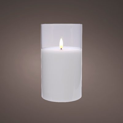LED wick candle glass BO indoor (Small)