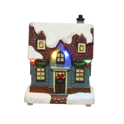Micro LED scenery plastic house steady BO indoor - Blue House