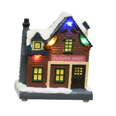 Micro LED scenery plastic house steady BO indoor - Flower Shop