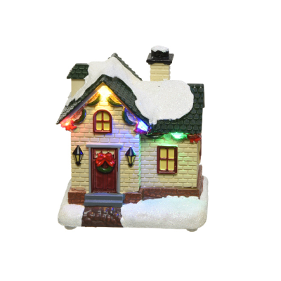 Micro LED scenery plastic house steady BO indoor - White House