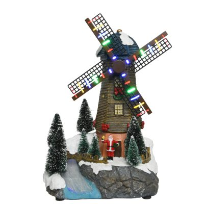 LED scenery polyresin windmill steady BO indoor