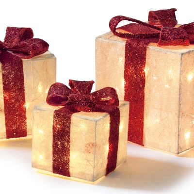 3pc White And Red Parcels