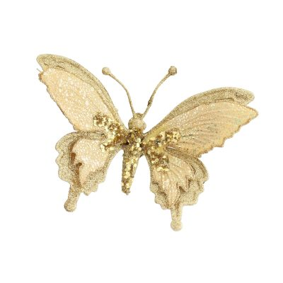 19cm gold clip on butterfly